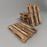 Wooden Pallet Low Poly