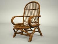 3dsmax rattan chair