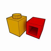 piece lego brick 1x1 3d obj