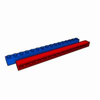 maya piece lego brick 1x16