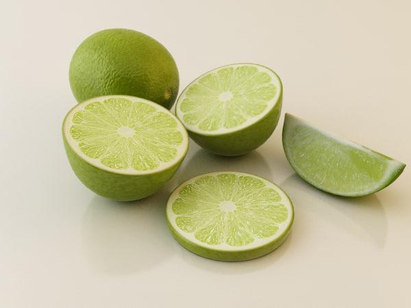 lime green 3d model
