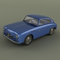 3d model panhard dyna junior coupe