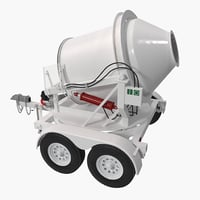 3d portable concrete mixer