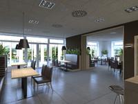 3d max restaurant scene interiors