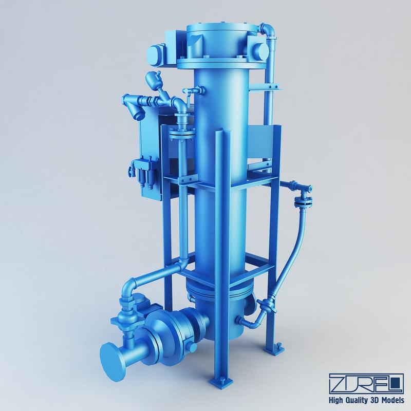 3d model of t type na pump