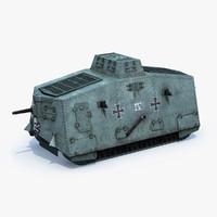 3d model german tank