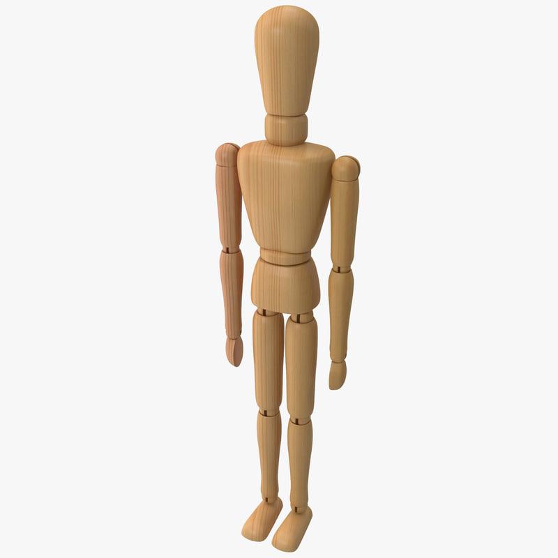 wooden mannequin max