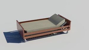 bed disabled persons 3d model