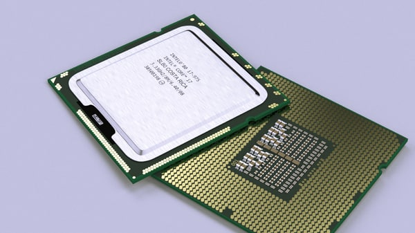 3d model intel core i7-975