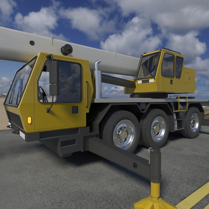 mobile construction crane 3d max