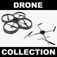 3d drone realistic model