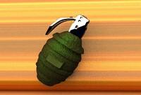 free hand grenade 3d model