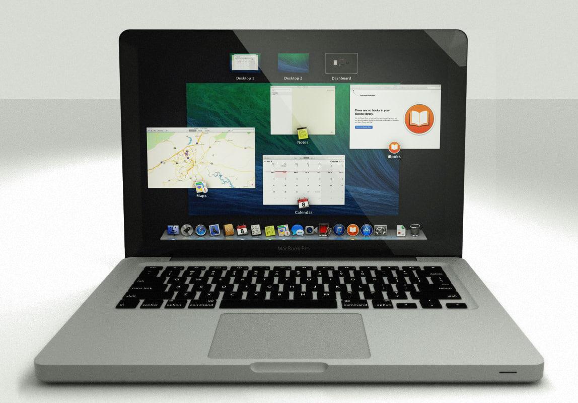 3d apple 13 macbook pro