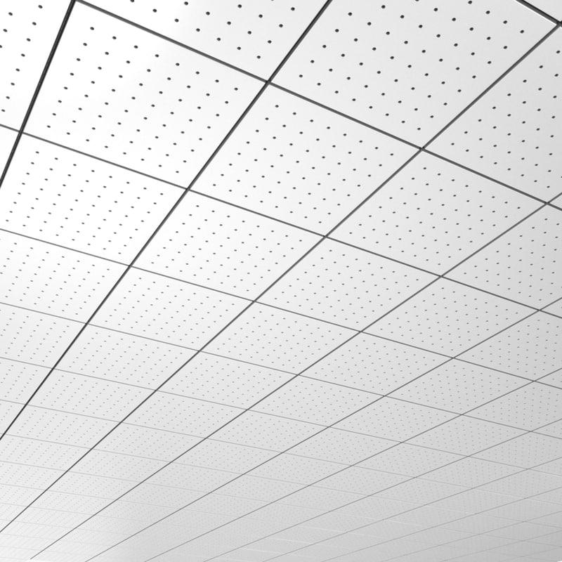 3d Office Ceiling Tileable Pattern Model