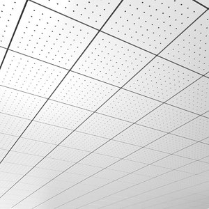 3d office ceiling tileable pattern model