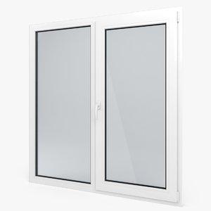 3d model modern pvc window 2