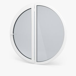 modern pvc circular window 3d model