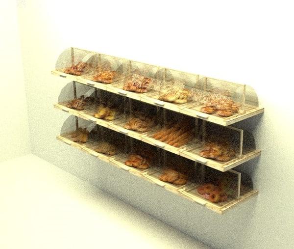 3d bakery display model