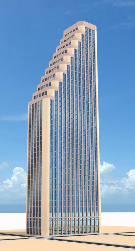 skyscraper nr 18 3d obj
