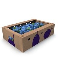 Box with plums