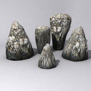 free rocks 01 3d model