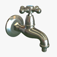 3d antique water tap