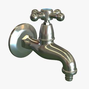 3d antique water tap