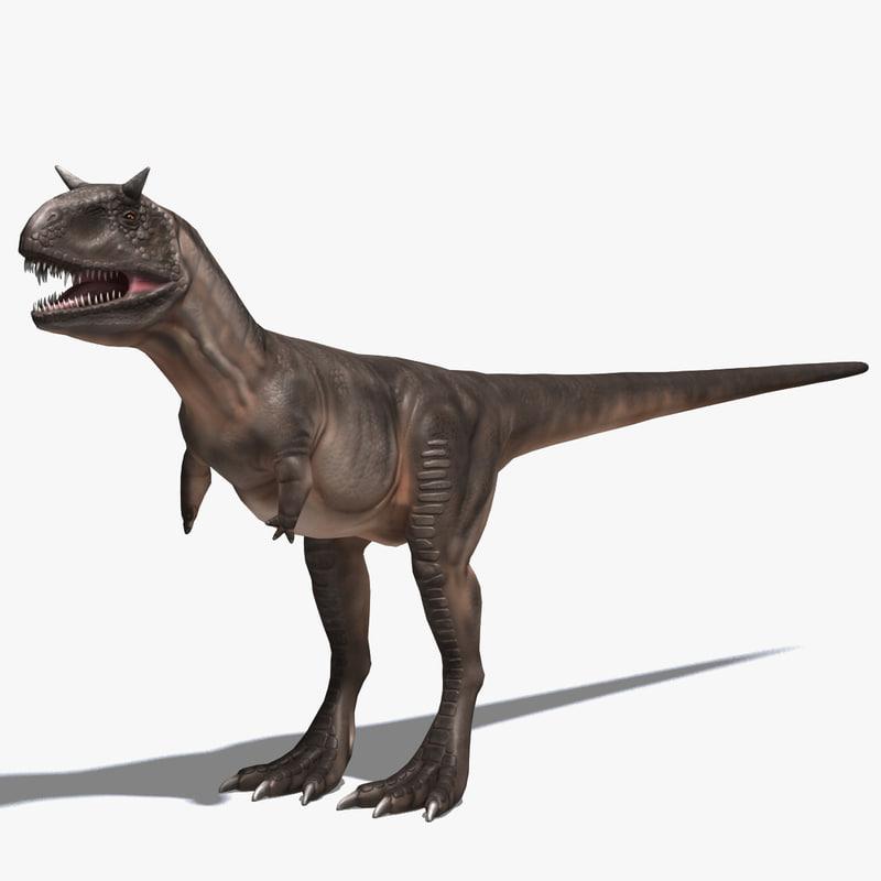 3ds max carnotaurus dinosaur cretaceous