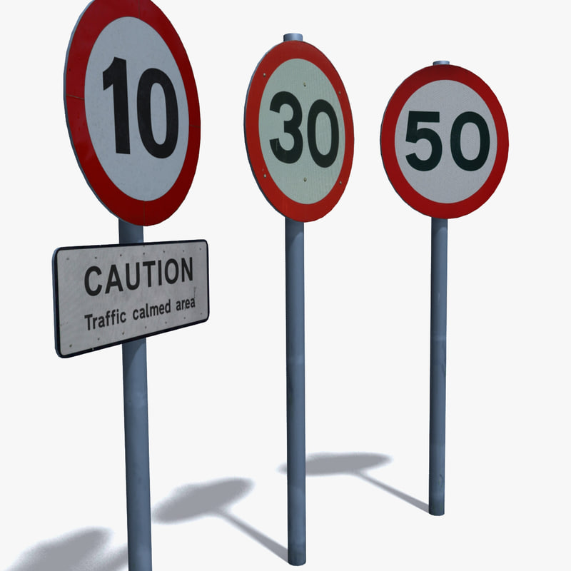 3d speed signs model