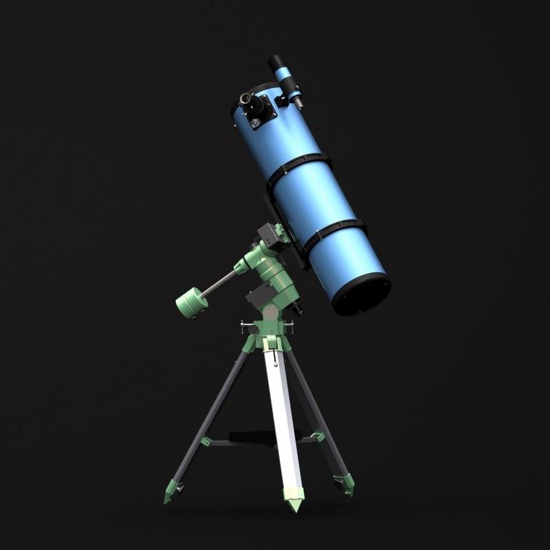telescope newton200-1000 3d max