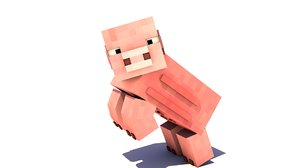 3d pig minecraft