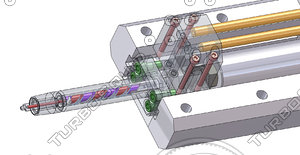 3d model cooling hydraulic core