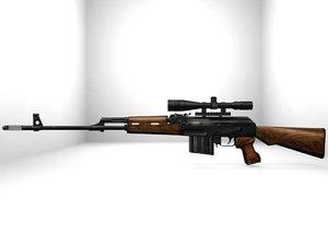 blend svd sniper rifle