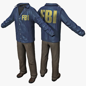 3d model fbi agent clothes