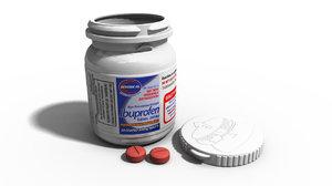 obj bottle ibuprofen