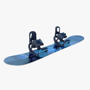 3d model burton snowboard