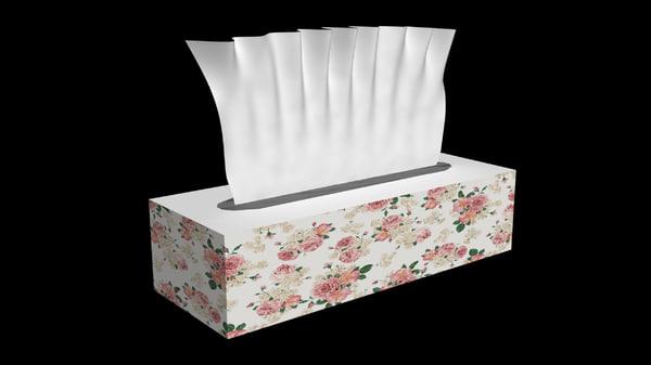 tissue box obj