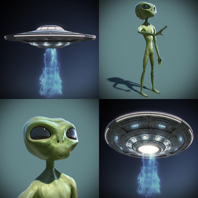 3d ufo alien model