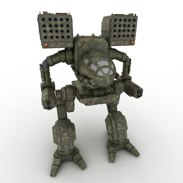 mechwarrior robot 3d model