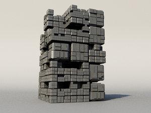 maya sci fi box building