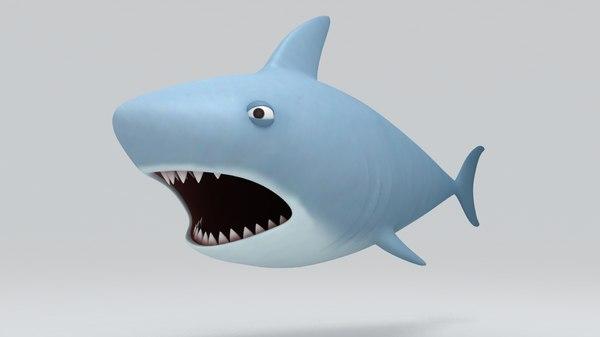 3ds max shark cartoon