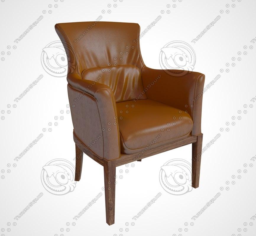 3d model armchair ischia