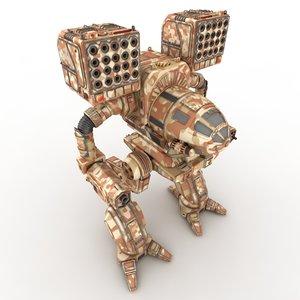 mechwarrior robot 3d max