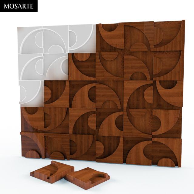 wood wall 3d fbx