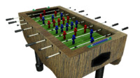 3d soccer table