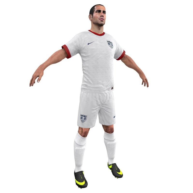 3d obj soccer player 2