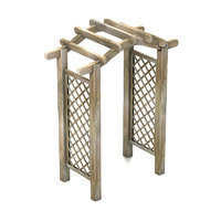 wooden trellis 3d model