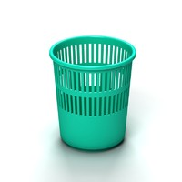 3ds plastic trash container