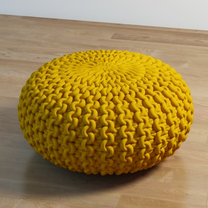 3d max urchin pouf