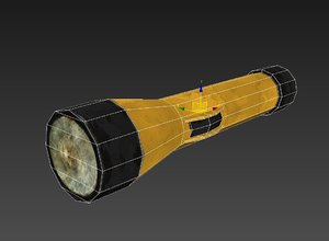 flashlight torch polys 3d max